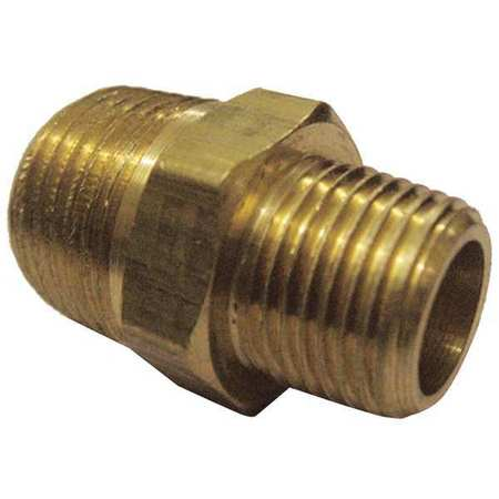"1/4"" x 1/8"" MNPT Brass Reducing Nipple 10PK"
