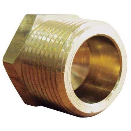"1/4"" MNPT Brass Hex Head Plug 10PK"