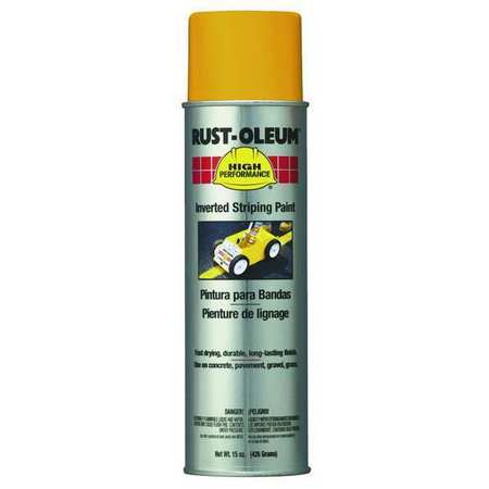 Inverted Striping Paint, Yellow, 18 oz.
