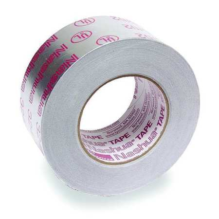 Printed Foil Tape, 2-1/2In x 60 Yd, Silver