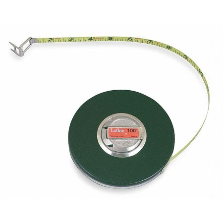 Long Tape Measure, 3/8 In x 50 ft, Brown