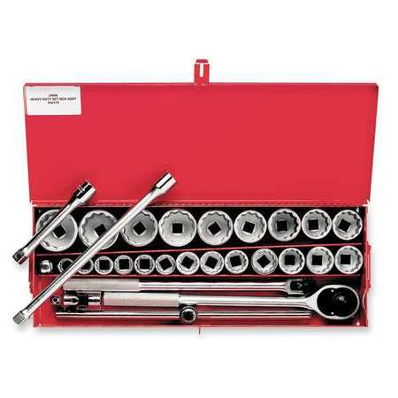 Socket Wrench Set, SAE, 3/4 in. Dr, 29 pc