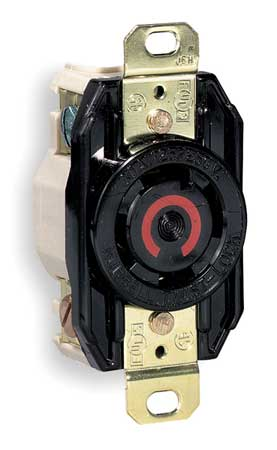 30A Locking Receptacle 3P 4W 125/250VAC L14-30R BK