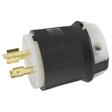 20A Locking Plug 3P 4W 480VAC L16-20P BK/WT