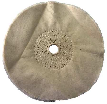 Buffing Wheel, Spiral Sewn, 10 In Dia.