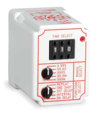 Time Delay Relay, 120VAC, 10A, DPDT