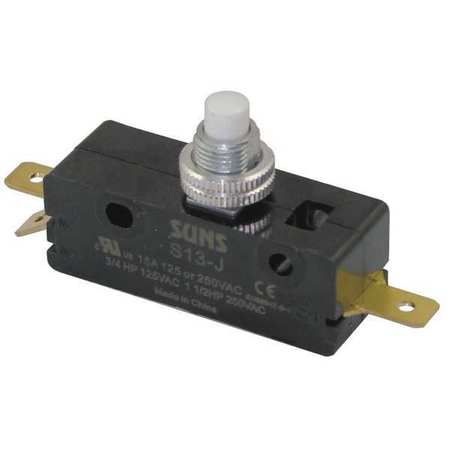 Snap Switch, 15A, SPDT, Panel Mount Plunger