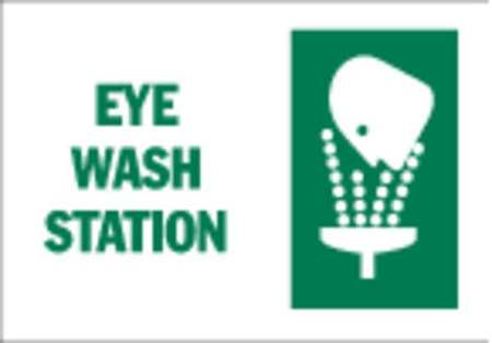 Eye Wash Sign, 10 x 14In, GRN/WHT, ENG, SURF