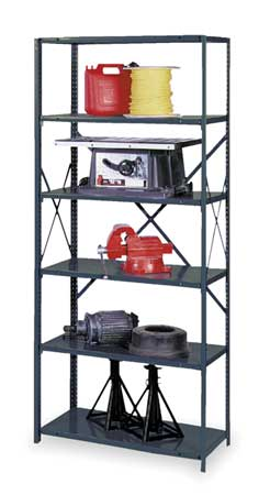 Shelving, Open, Starter, Steel, 85""