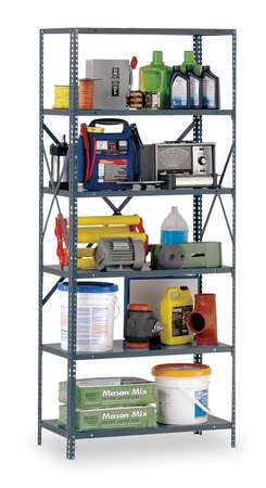 Shelving, Open, Freestanding, Steel, 85""