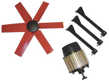 Exhaust Fan Kit, 16 In Dia, 2500 CFM, 460 V