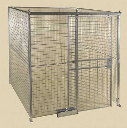 Wire Partition Sliding Door, 6 ft x 8 ft