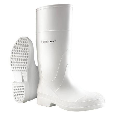 "Knee Boots, Sz 7, 14"" H, White, Stl, PR"