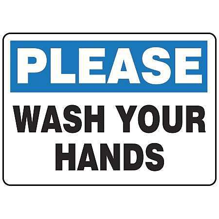 Wash Hand Before Work Signs