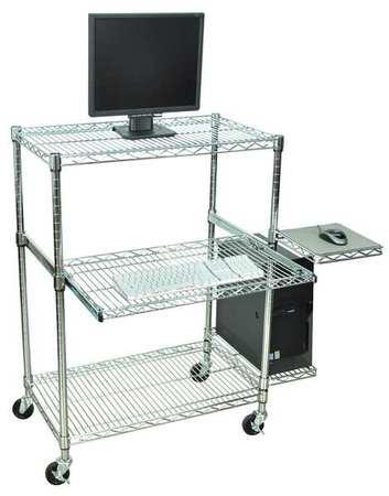 Portable Keyboard Workstation : luxor computer workstation portable chrome licw4218 ~ Hamham.info Haus und Dekorationen