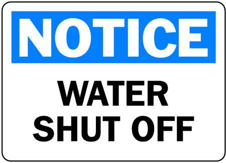 Image result for water shut off notice