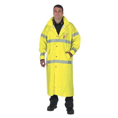 FR Raincoat, Hi-Vis YellowithGreen, 2XL