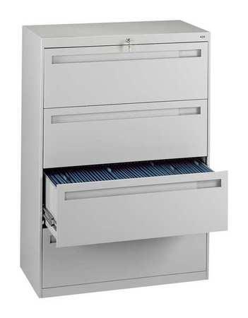 Tennsco 4 Drawer File Cabinet Height 51 1 Width 36 Light Grey Lpl3648l40 Lght Zoro