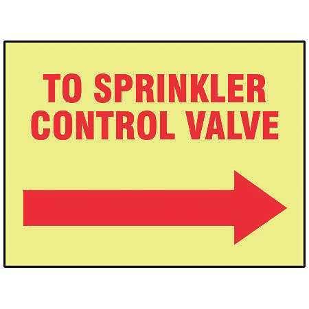 ACCUFORM MLFX525GF Fire Sprinkler Control Valve Sign,R/YEL
