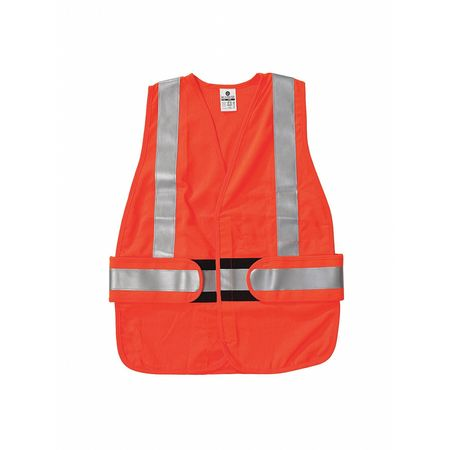 M to XL Class 2 Flame Resistant Vest,  Orange