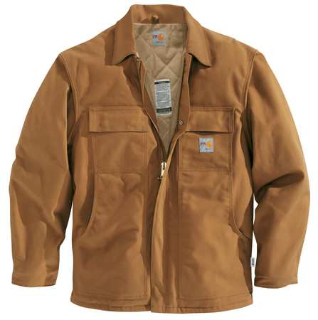 Carhartt Flame Resistant Jacket,  Brown, Cotton Duck,  3XL