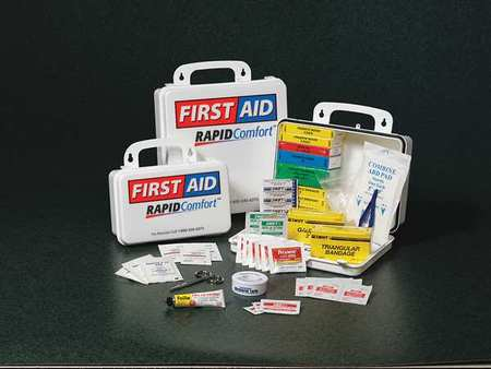 First Aid Kit, Unitized, White, 24 Pcs