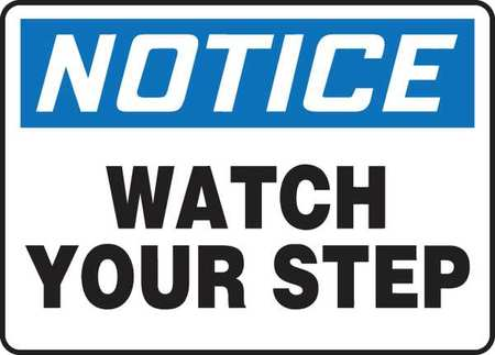 Avoid Injury,  Watch Step - Caution Signs