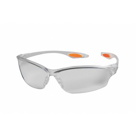 Value Brand Clear Safety Glasses,  Anti-Fog,  Scratch-Resistant