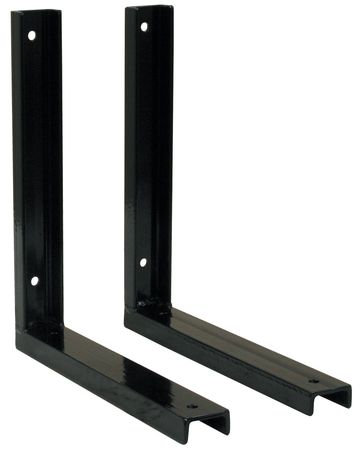 Mounting Bracket, 15 in. L, Steel, Black