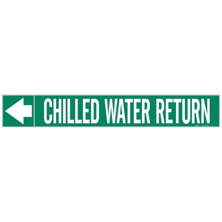Pipe Marker, Chilled Water Return, 2 In.H