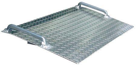 Mini Dockplate, Aluminum, 500 lb, 18 x 24In