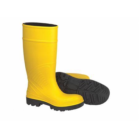 "Knee Boots, Sz 15, 15"" H, Yellow, Stl, PR"