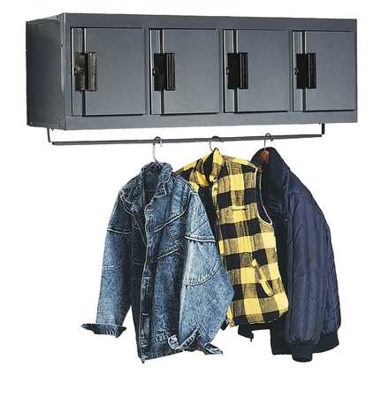 4-Person Wall-Mounted Lockers
