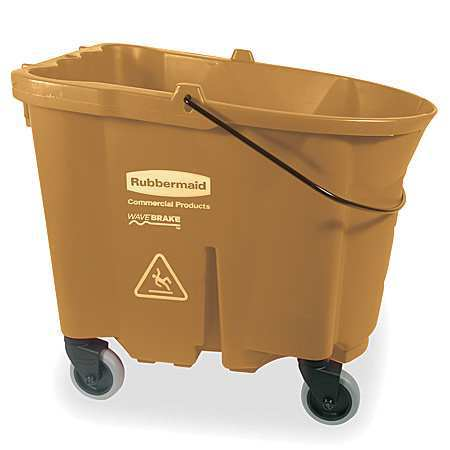 Mop Bucket, 8.75 gal., Brown