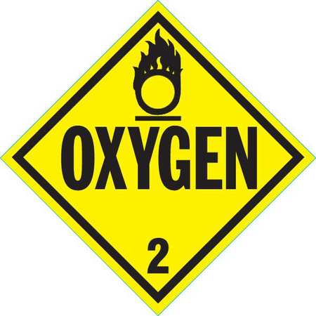 Vehicle Placard, Oxygen with Pictogram