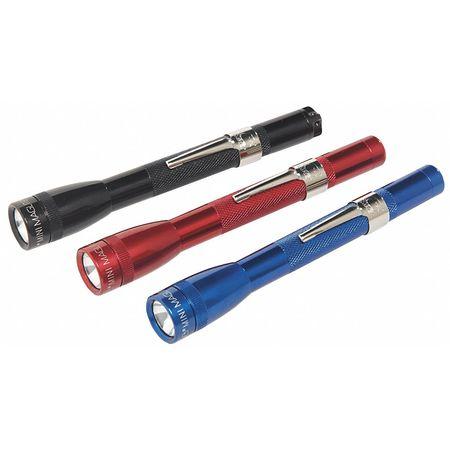 Industrial Mini Flashlight, Incand, Red