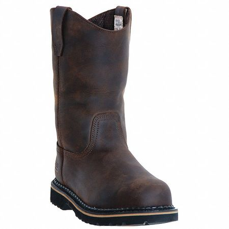 Wellington Boots, Pln, Mens, 9-1/2, Brn, PR