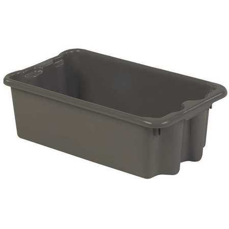 Stack and Nest Bin, 24 In L, Gray