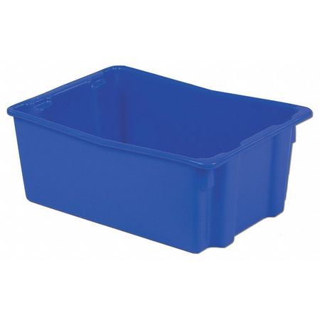 Stack and Nest Bin, 26-1/8 In L, Blue