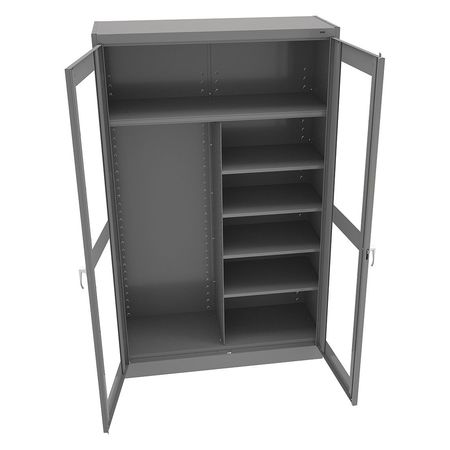 Storage Cabinet, Clearview, Medium Gray