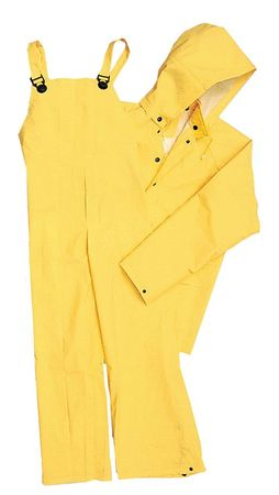 FR 2 Piece Rainsuit, Ylw, 2XL