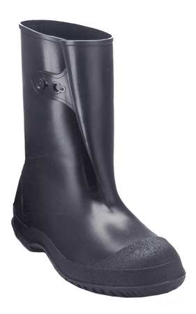 Overboots, Mens, XL, Button Tab, Blk, PVC, PR