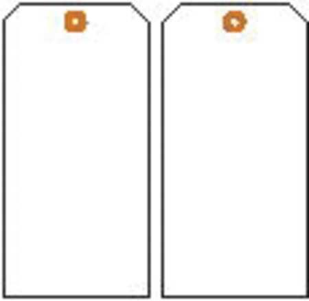 Blank Tag, 5-3/4 x 3 In, Wht, Met, PK10