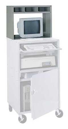 Edsal Computer Cabinet, 27 x 13 x 21 In, Gray CSR6800G   Zoro.com