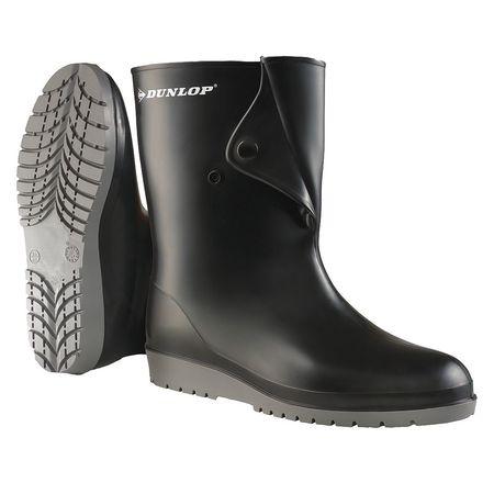 """Knee Boots, Size 7, 10"""" H, Black, Plain, PR"""
