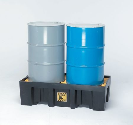 Drum Spill Cntnmnt Pallet, 2 Drum, 2k lb.
