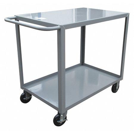 "42/""L x 24/""W Steel Utility Cart 1200 lb ZORO SELECT 8AE95 12 ga Capacity"