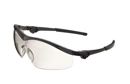 Crews Clear Safety Glasses,  Scratch-Resistant,  Wraparound