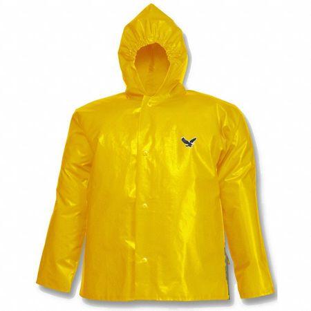 Tingley Rain Jacket with Hood, Men's, Yellow, 3XL J22107 | Zoro.com