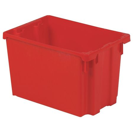 Stack and Nest Bin, 19-1/2 In L, Red